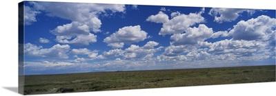 Clouds over a landscape, Serengeti National Park, Tanzania
