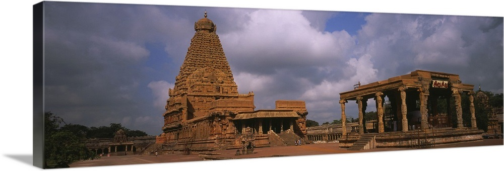 Clouds over a temple, Brihadeeswarar Temple, Thanjavur, Tamil Nadu, India