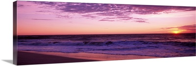 Clouds over an ocean at dawn