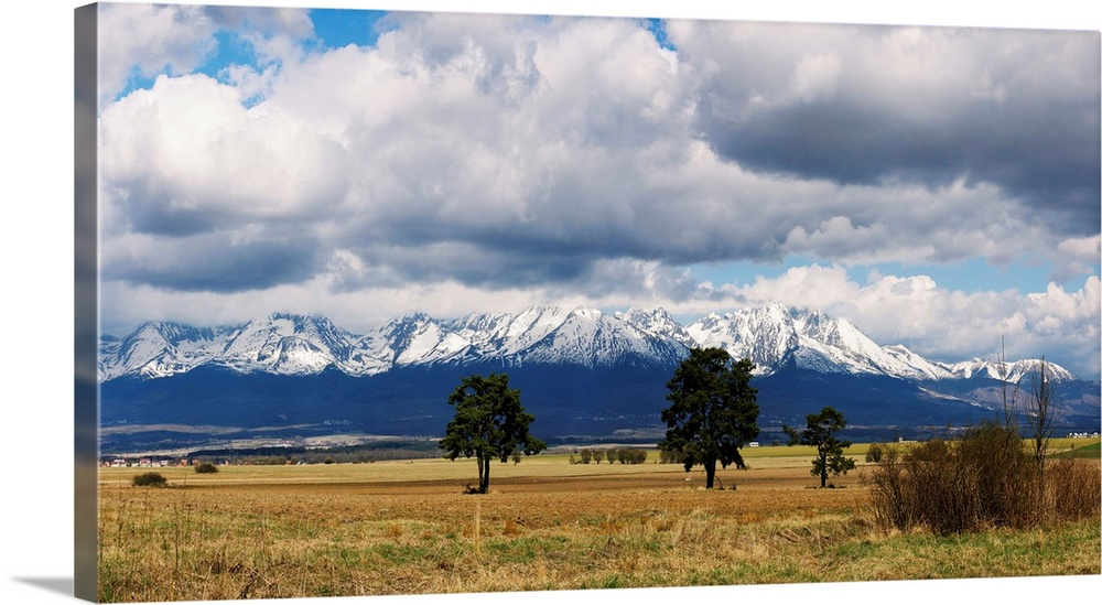 Clouds Over Snowcapped Mountains Tatra Mountains Slovakia Wall Art Canvas Prints Framed Prints Wall Peels Great Big Canvas