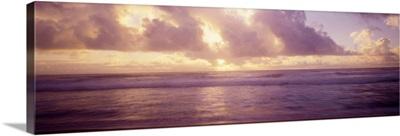 Clouds over the ocean, Pacific Ocean, Kauai, Hawaii