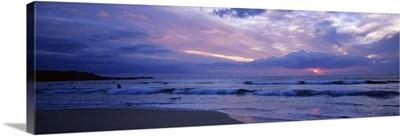 Clouds over the sea at sunset, Hapuna Beach, South Kohala Coast, Big Island, Hawaii