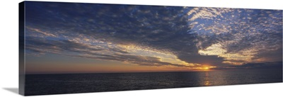 Clouds over the sea at sunset, Venice, Florida