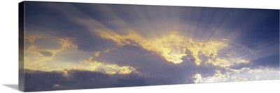 Clouds with God Rays