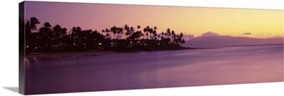 Coastline at dusk, Maui, Hawaii II