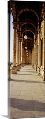Colonnade at a mosque, Mosque Of Muhammed Ali, Cairo, Egypt