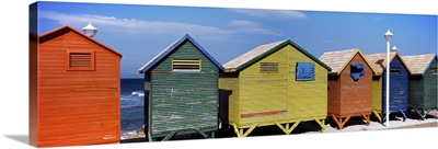 Colorful huts on the beach St. James Beach Cape Town Western Cape Province South Africa