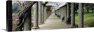 Columns along a path in a garden, Maymont, Richmond, Virginia