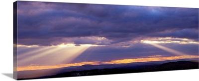 Corpuscular Rays Clouds Sunset