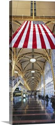 Corridor in an airport, Ronald Reagan Washington National Airport, Washington DC