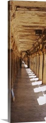 Corridor of a temple, Tamil Nadu, India