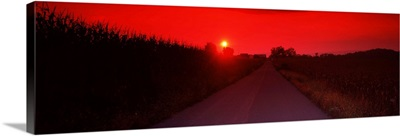 Country road at sunset, Milton, Northumberland County, Pennsylvania