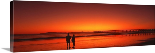 Couple Sunset Anacapa Island CA