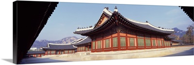 Courtyard of a palace, Kyongbok Palace, Seoul, South Korea, Korea