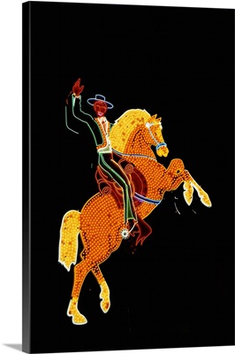 Cowboy and Horse Neon Sign