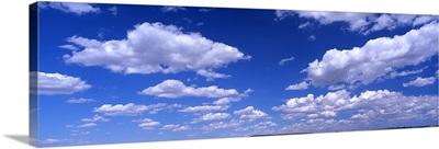 Cumulus clouds in the sky, Texas