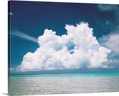 Cumulus clouds over sea
