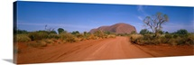 Desert Road and Ayers Rock Australia