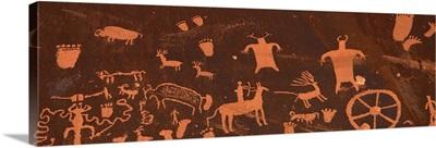 Detail of Ancient Petroglyphs Newspaper Rock Utah
