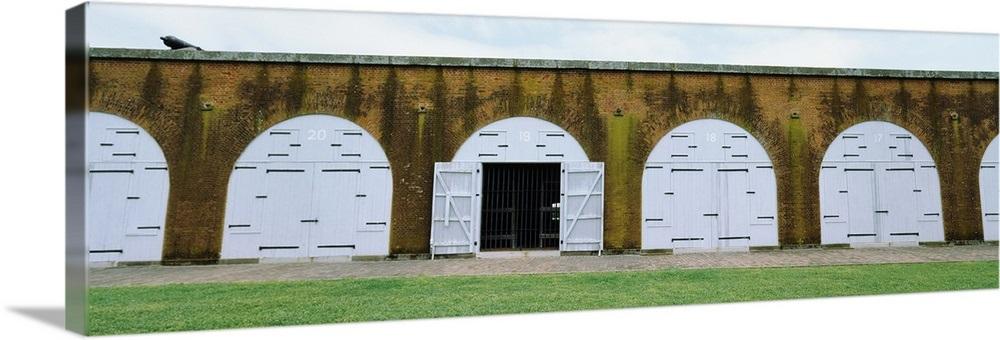 Doorway into Confederate Fort Pulaski, Savannah, Georgia