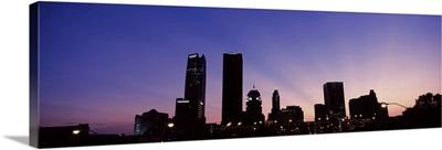 Downtown skyline at night, Oklahoma City, Oklahoma, USA II