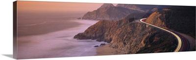 Dusk Highway 1 Pacific Coast CA