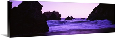 Dusk on the Santa Cruz coastline, California