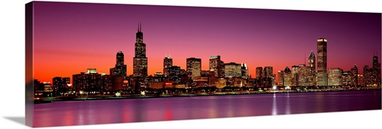 Dusk Skyline Chicago IL