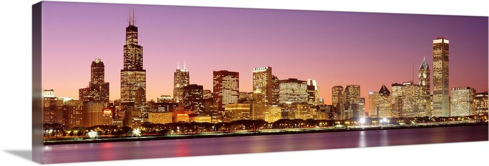 Dusk Skyline Chicago IL