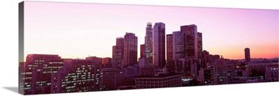 Dusk Skyline Los Angeles CA