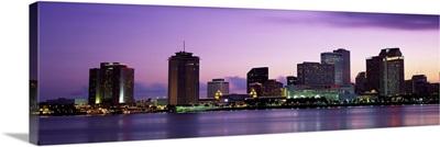 Dusk Skyline New Orleans LA