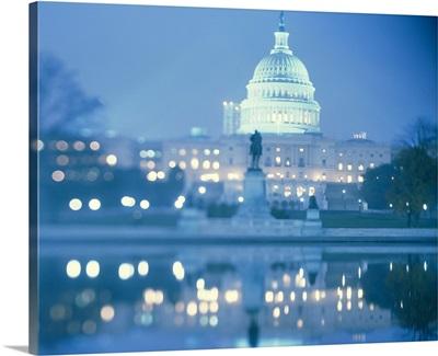 Dusk US Capitol Building Washington DC