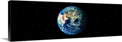 Earth in Space showing Asia and Africa (Photo Illustration)