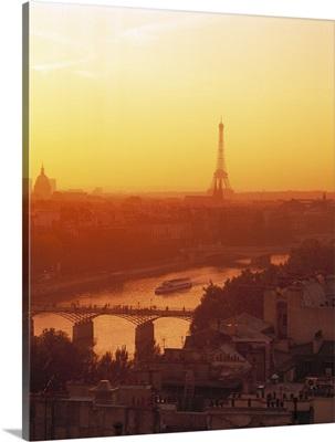 Eiffel Tower Seine River Paris France