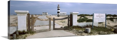 Entrance of a lighthouse, Cape Recife Lighthouse, Port Elizabeth, Algoa Bay, Eastern Cape Province, Republic of South Africa