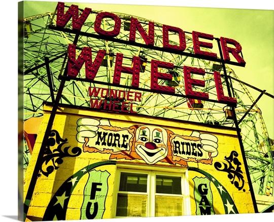 Entrance to the Wonder Wheel, Coney Island, Brooklyn, New York City ...