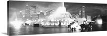 Evening Buckingham Fountain Chicago IL