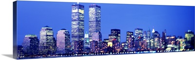 Evening Lower Manhattan New York NY