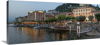 Evening view of waterfront at Bellagio, Lake Como, Lombardy, Italy