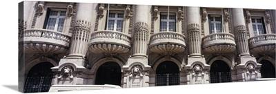 Facade of a bank, Totta And Acores Bank, Lisbon, Portugal