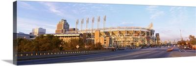 Facade of a baseball stadium, Jacobs Field, Cleveland, Ohio