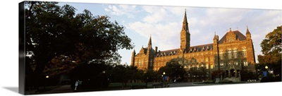 Facade of a building, Healy Hall, Georgetown University, Georgetown, Washington DC
