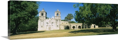 Facade of a church, Mission Concepcion, San Antonio Missions National Historical Park, Texas
