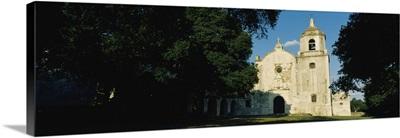 Facade of a church, Mission Espiritu, Goliad State Historical Park, Goliad, Texas