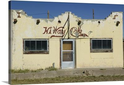 Facade of a former cafe, Valentine, Jeff Davis County, Texas