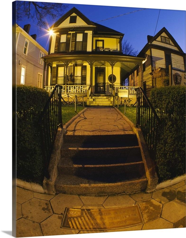 Facade Of A House Birthplace Of Martin Luther King Jr Atlanta