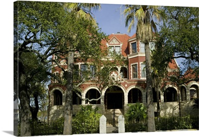 Facade of a museum, Moody Mansion and Museum, Galveston, Texas