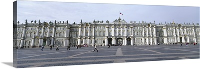 Facade of a museum, State Hermitage Museum, Winter Palace, Palace Square, St. Petersburg, Russia