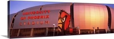 Facade of a stadium University of Phoenix Stadium Glendale Phoenix Arizona