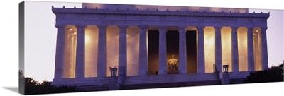 Facade of the Lincoln Memorial, Washington DC